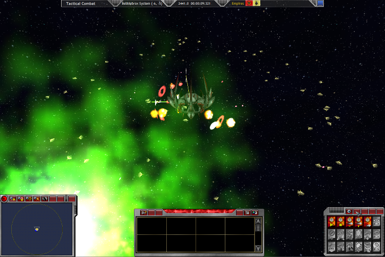 A Defender-class Starbase defends itself against a Phong Fighter Horde at the Bebblebrox-Quesstris WP in 2441.0