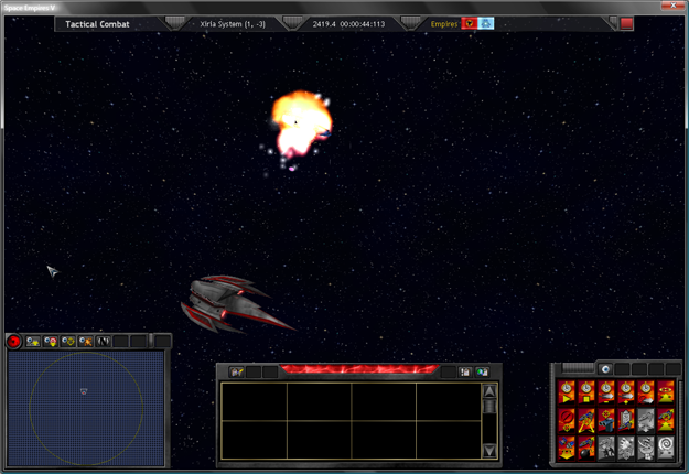 Ravager 0001 destroys EEE Light Cruiser in the Xiria System